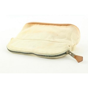 Hermès Toile Beige Bolide Cosmetic Pouch Make up case 100her428