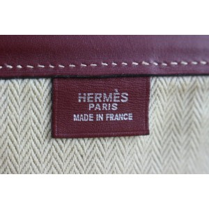 Hermès Cabas Bicolor Shopper 7he0109 Beige Canvas Tote