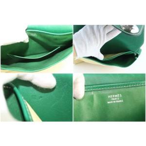 Hermès Flap Bicolor 226864 Green Straw Cross Body Bag