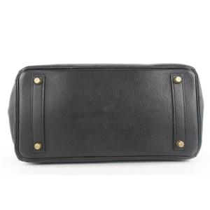Hermes Black Leather Birkin Haut a Courroies 32 Hac Bag 367her225