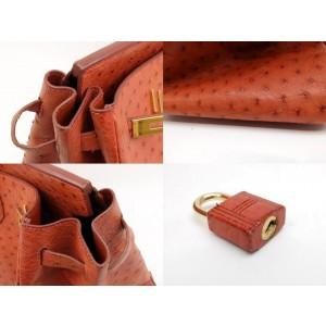 Hermès Ostrich Birkin 35 Burnt Orange Brown 233108