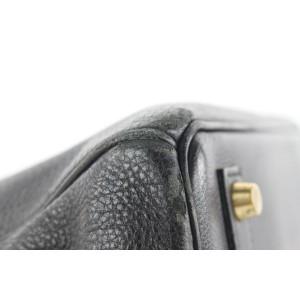 Hermès Black Leather Birkin Haut a Courroies 32 Hac Bag 3her5