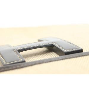 Hermès Beige Toile x Brown Leather Jige 34 Clutch GM Bag 857840