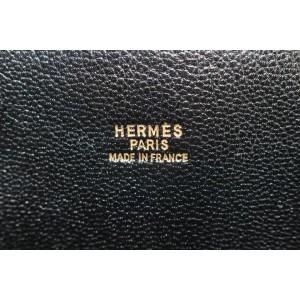 Hermès Black Chevre Leather Macpherson 34 Bolide Trunk 2way Bag 766her331