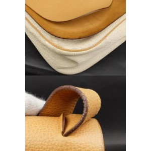 Hermès Double Flap Colorado Gm 224735 Beige X Brown Leather Cross Body Bag