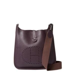 Hermès Evelyne 870899 Purple Leather Messenger Bag