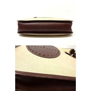 Hermès Bicolor Beige Toile Brown Leather Evelyne 226I252