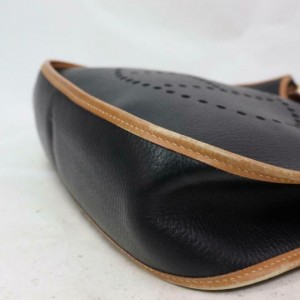 Hermès Evelyne Bicolor Brown 870509 Black Leather Shoulder Bag