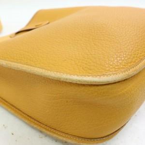 Hermès Evelyne Mustard Clemence 870631 Yellow Leather Messenger Bag