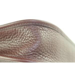 Hermès Brown x Silver Mini Evelyne TPM 16 Crossbody Bag  528her38