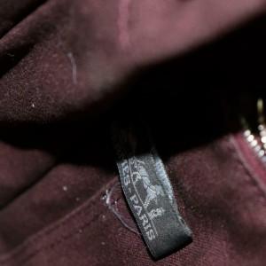 Hermès Fourre Tout Herline Cabas Striped 871717 Bordeaux Canvas Tote
