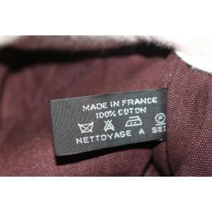Hermès Fourre Tout Striped 11hz0907 Burgundy Canvas Tote