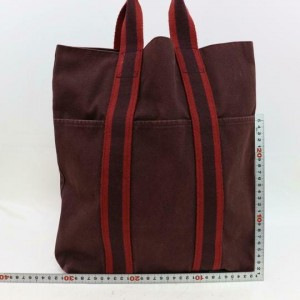 Hermès Fourre Tout Tall 870502 Brown Canvas Tote