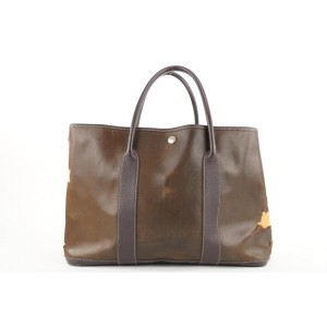 Hermes Buffalo Amazonia Leather Garden Party Tote 345her224