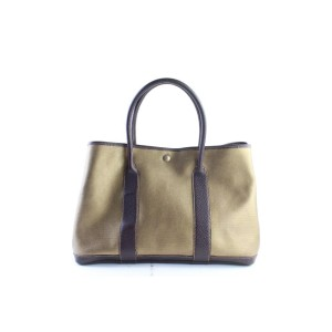 Hermès Garden Party Metallic 866776 Gold Canvas Tote
