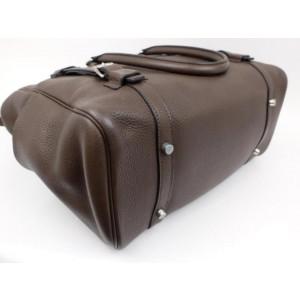 Hermès Brown Gris Clemence Leather Pursangle Satchel Bag 2341422