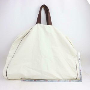 Hermès H Logo Garment 871528 White Canvas Weekend/Travel Bag