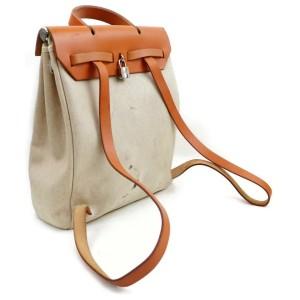 Hermès Herbag Sac A Dos 2-in-1 871871 Brown Coated Canvas Backpack