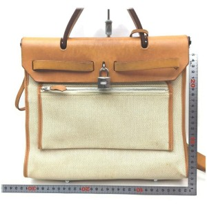 Hermes Ultra Rare Retourne Toile Herbag 2way with Pouch 862702