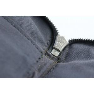 Hermès Zippy Organizer Herline Wallet 9hr0510 Gray Canvas Clutch