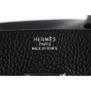 Hermès Rare Black Clemence Leather JPG Birkin 42 PHW 31her121