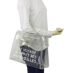Hermès Kelly 1997 Souvenir A Translucent See Through 3her611 Clear X White Vinyl Tote