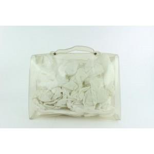 Hermès Kelly Clear Translucent Souvenir Limited Edition 23hz1019 White Vinyl Tote