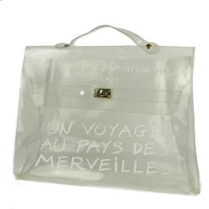Hermès Kelly SOUVENIR DE L'EXPOSITION Beach Tote Clear Translucent 872787