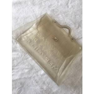 Hermès Kelly Souvenir De L'exposition Clear 228697 White Vinyl Satchel