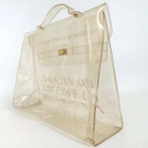 Hermès Kelly Through Translucent Vinyl Souvenir Exposition 872518 Clear Plastic Satchel