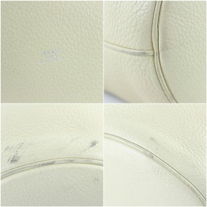 Hermès Taurillon Clemence Mangeoire Gm Rope 222332 Ivory Tote Bag