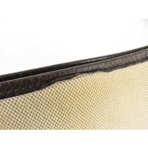 Hermès Bicolor Toile Leather Evelyne Messenger 857833