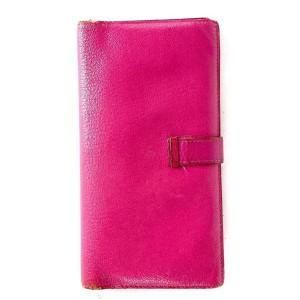 Hermès Pink Bearn Long Bifold Flap Wallet 26h68