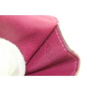 Hermès Pink Leather Keychain Coin Pouch 208her55
