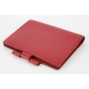 Hermès Red Epsom Leather Mini Agenda Notebook Cover 17her1231