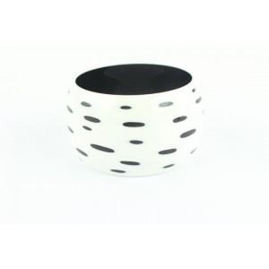 Hermès White And Black Ultra Extra Wide Bangle 55hz1009 Bracelet