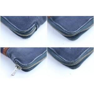 Hermès Zip Around Wallet 14hr0226 Blue X Red Canvas Clutch