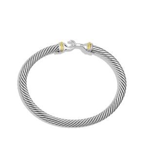 David Yurman Sterling Silver & 18K Yellow Gold Cable Classics Bracelet