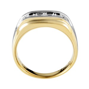 I.B. Goodman 14K Multi-Tone Gold & Diamond Band Ring