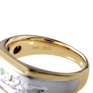 I.B. Goodman 14K Multi-Tone Gold & Diamond Band Ring