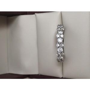 Blue Nile Garland White Gold & Diamond Eternity Band Ring Size 7.5