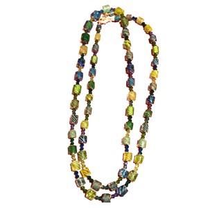 Lucy Bergamini Blue Glass Bead Necklace & Bracelet