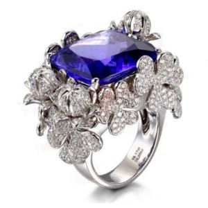 Tanzanite And Sapphire Ring