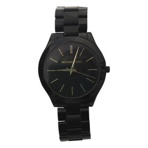 Michael Kors Slim Runway MK3221 Black-Tone Stainless Steel 42mm Watch