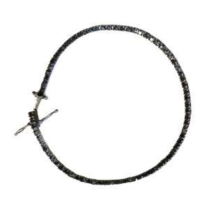 18K White Gold & Black Diamond Bracelet