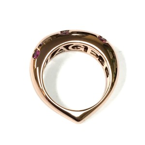 Piaget Rare Rose Gold Heart shaped Pink Sapphire Ring