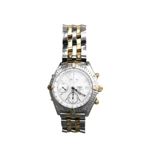 Breightling Chonomat 18K Yellow Gold and Stainless Steel 43mm Watch