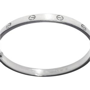 Cartier Love Bracelet White Gold Size 20