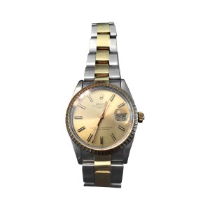 Rolex Oyster Perpetual Date With 18K Yellow Gold And Stainless Bracelet