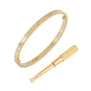 Cartier Yellow Gold B6047517 Love Bracelet, SM Size 17